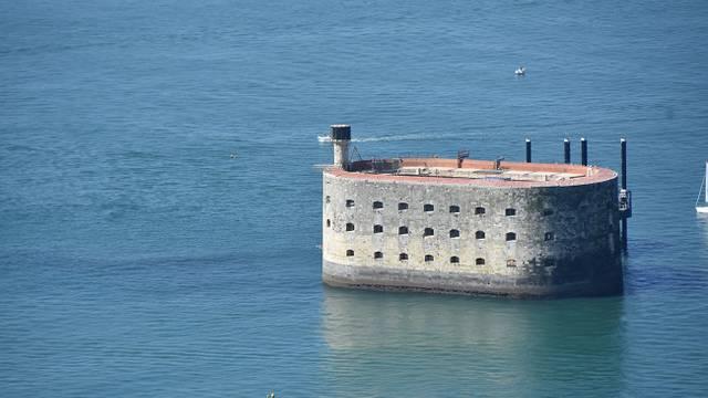 Fort Boyard aus der Luft gesehen